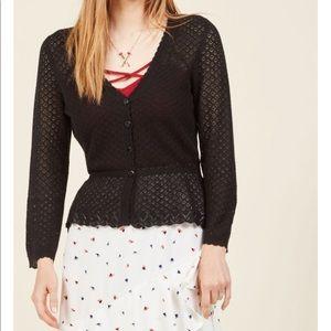 Modcloth crochet peplum cardigan